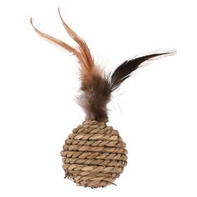 Balle en sisal avec plumes