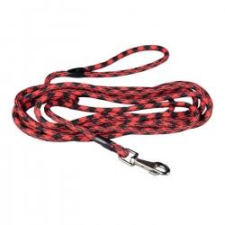 Longe nylon ronde rouge et noire