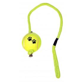Balle de tennis avec corde...