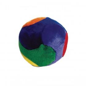 Balle peluche colorée