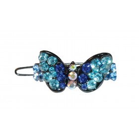 Barrette strass papillon