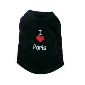 "T-shirt noir ""I love Paris""..."