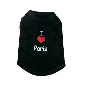"""T-shirt noir """"I love Paris""""..."""