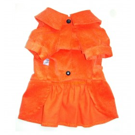 Robe en velours orange (+1...