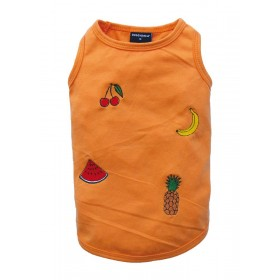 T-shirt orange motifs fruits