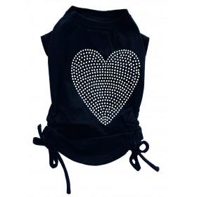 T-shirt noir avec coeur...