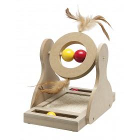 Jouet en bois mobile pour chat