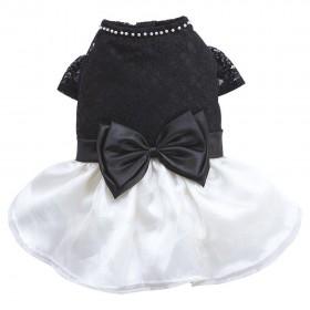 Robe dentelle noire et blanche