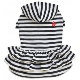 Robe rayée noir et blanc...