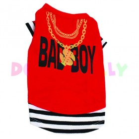 "T-shirt ""Bad Boy"" rouge"