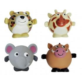 4 jouets animaux ronds en...
