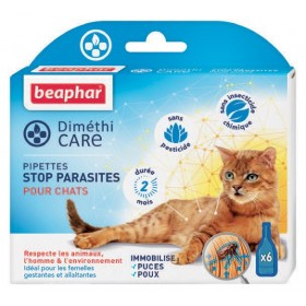Pipettes antiparasitaire pour chat DimethiCARE