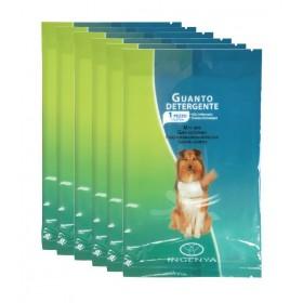 Lot de 6 gants de nettoyage pour chien emballés...