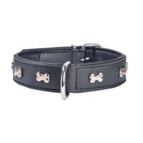 Collier bouledogue en cuir...