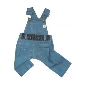 Salopette jean avec poches et ceinture XS