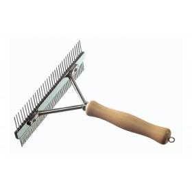 Peigne râteau manche en bois