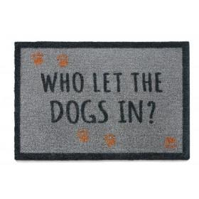 Tapis d'entrée Qui a laissé rentré le chien ?