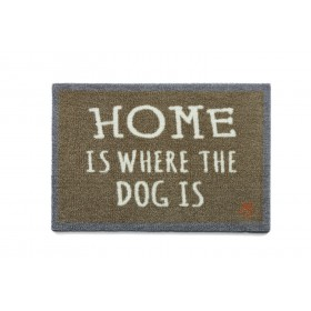Tapis d'entrée Home is where is dog