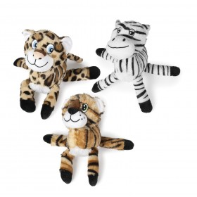 Peluche Animal jungle sonore grandes pattes de 25 cm