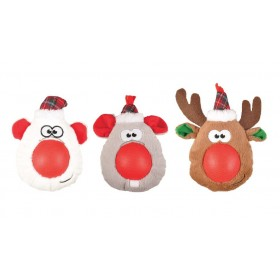 Lot de 3 peluches de Noël...