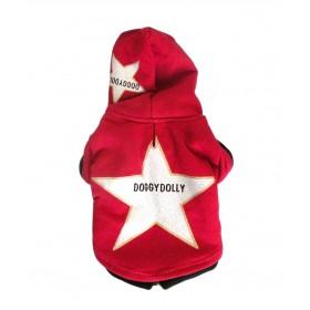T-Shirt rouge à capuche étoile