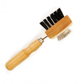Carde double : brosse / picots