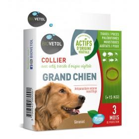 Collier insectifuge pour chien au Géraniol BIOVETOL