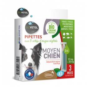 Pipette insectifuge pour chien BIOVETOL