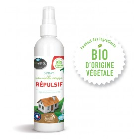 Spray répulsif aux huiles essentielles biologiques BIOVETOL