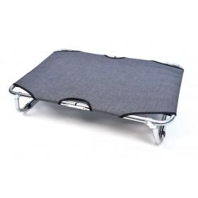 Toile de rechange grise pour lit pliant