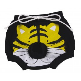 Culotte noir motif tigre