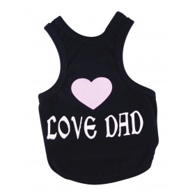 "T-shirt noir ""I love dad""..."