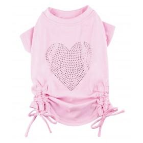 T-shirt rose avec coeur...