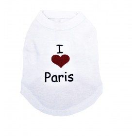 "T-shirt blanc ""I love Paris"""