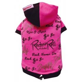 T-Shirt Rose à capuche Rock...