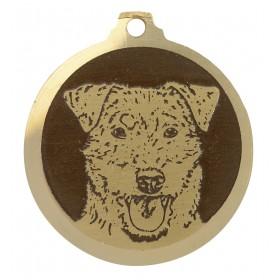 Médaille gravée en laiton...