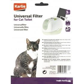 Lot de 3 filtres universels de 20  x 15 cm