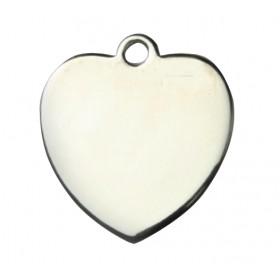 Médaille MÉTAL argentée cœur