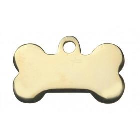 Médaille MÉTAL dorée forme os