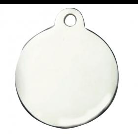 Médaille MÉTAL argentée ronde