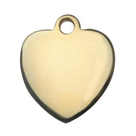Médaille MÉTAL dorée cœur