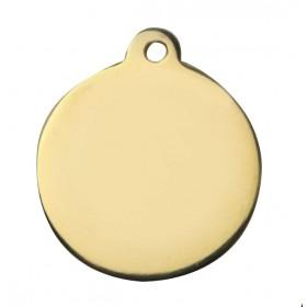 Médaille MÉTAL dorée ronde